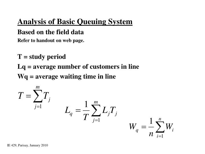 Analysis of Basic Queuing System