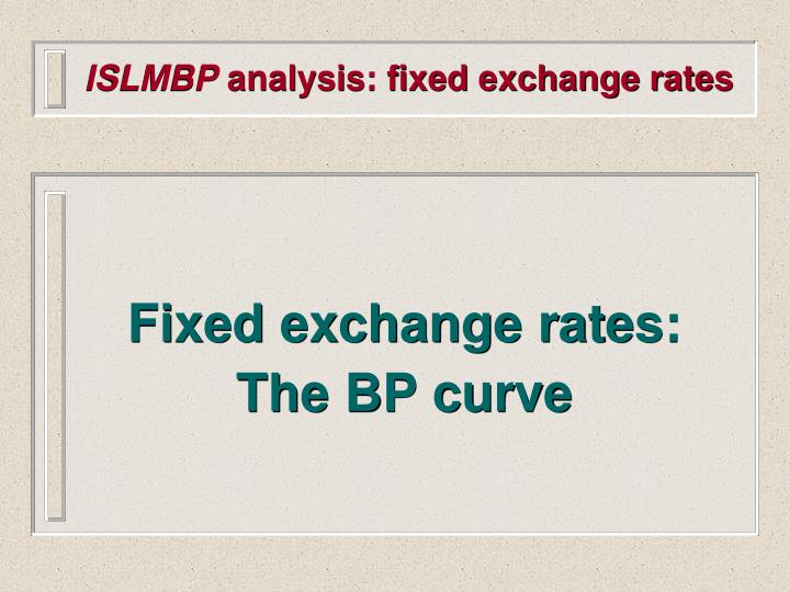 Islmbp analysis fixed exchange rates