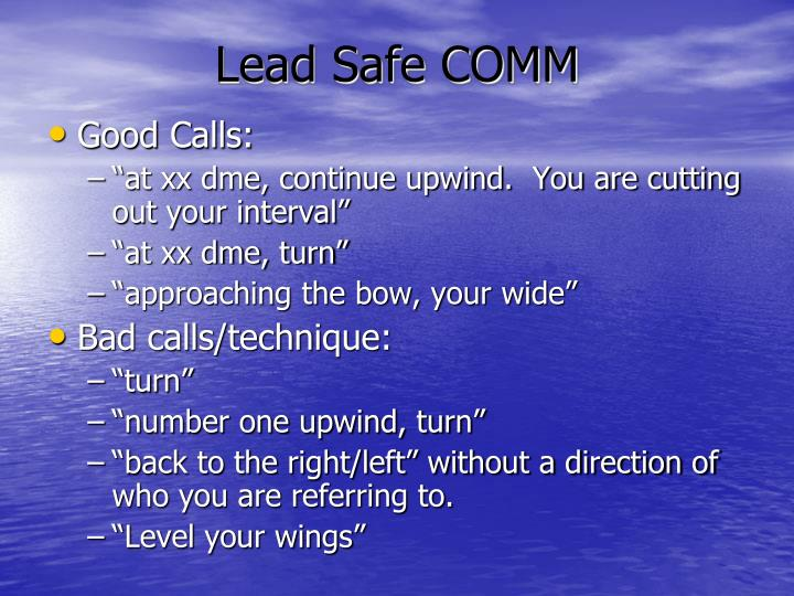 Lead Safe COMM