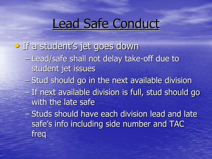 Lead Safe Conduct