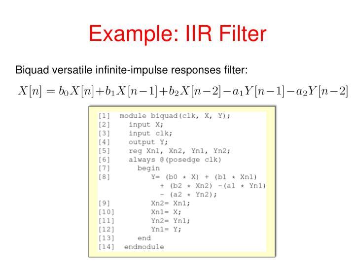 Example: IIR Filter