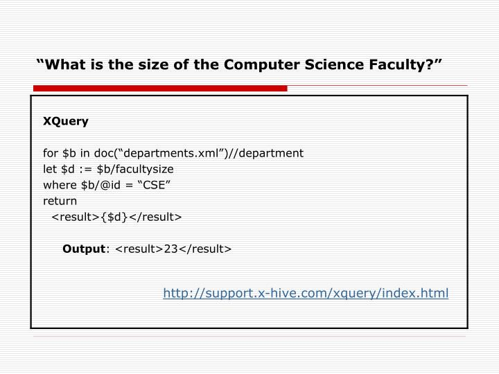 """What is the size of the Computer Science Faculty?"""