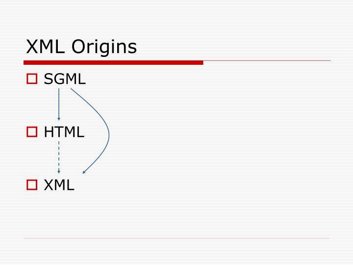 XML Origins