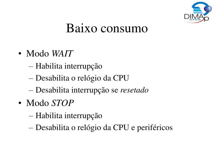 Baixo consumo