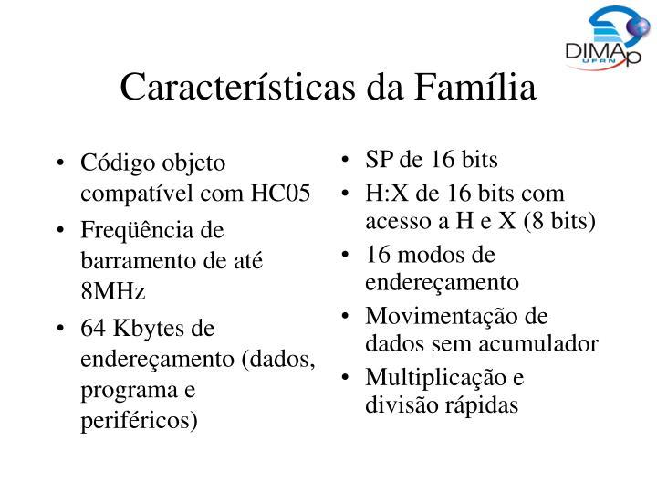 Código objeto compatível com HC05