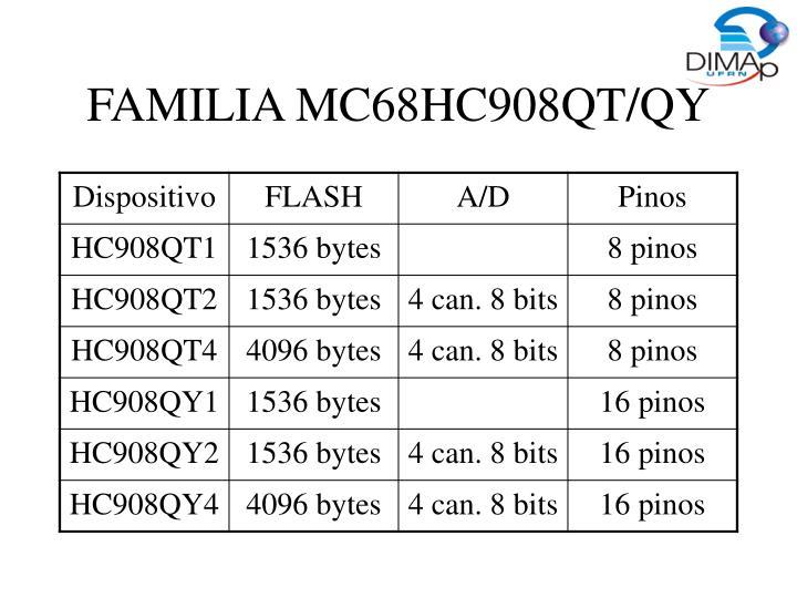FAMILIA MC68HC908QT/QY