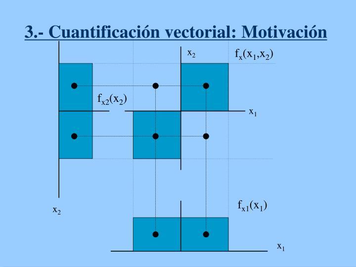 3.- Cuantificación vectorial: Motivación
