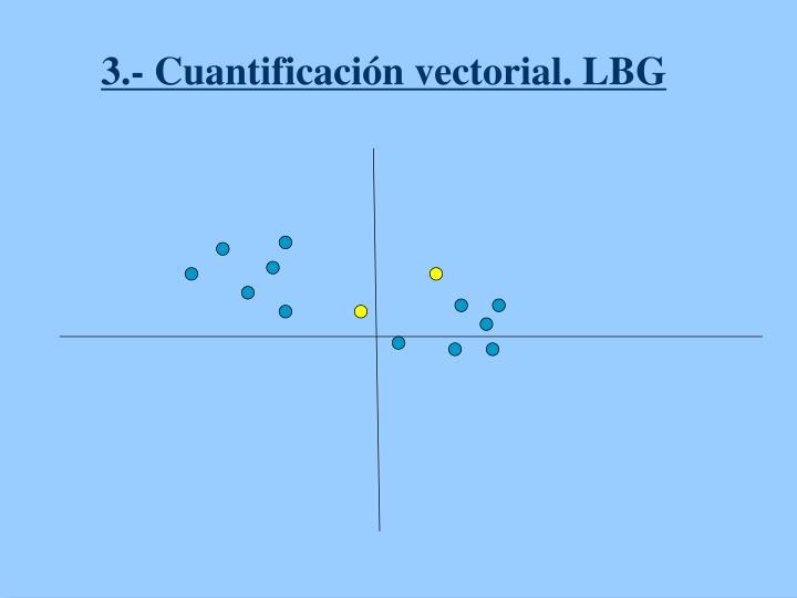 3.- Cuantificación vectorial. LBG