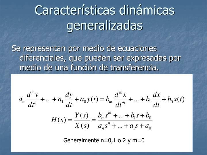 Características dinámicas generalizadas