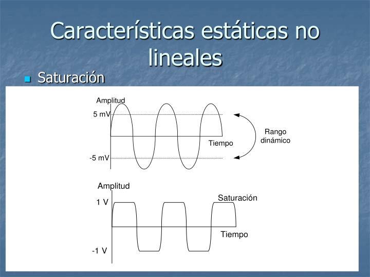 Características estáticas no lineales