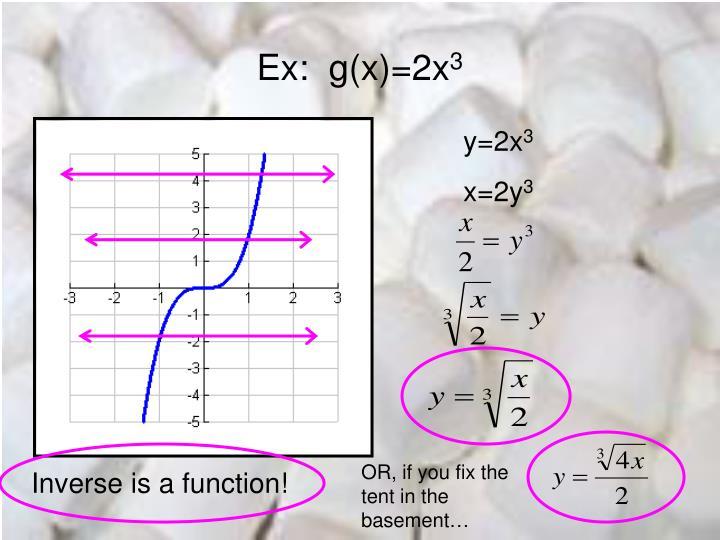 Ex:  g(x)=2x
