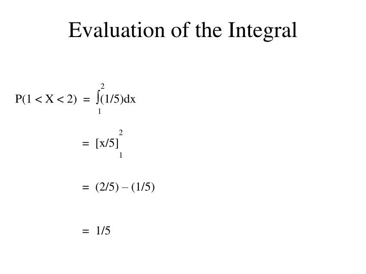 Evaluation of the Integral