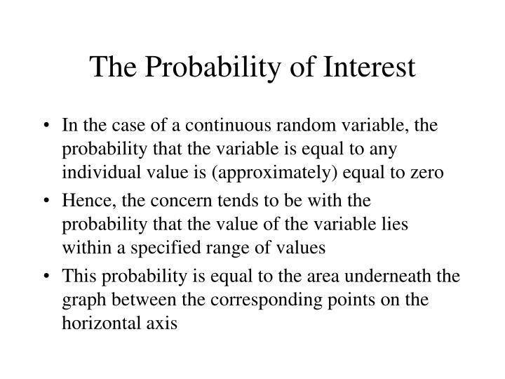 The Probability of Interest