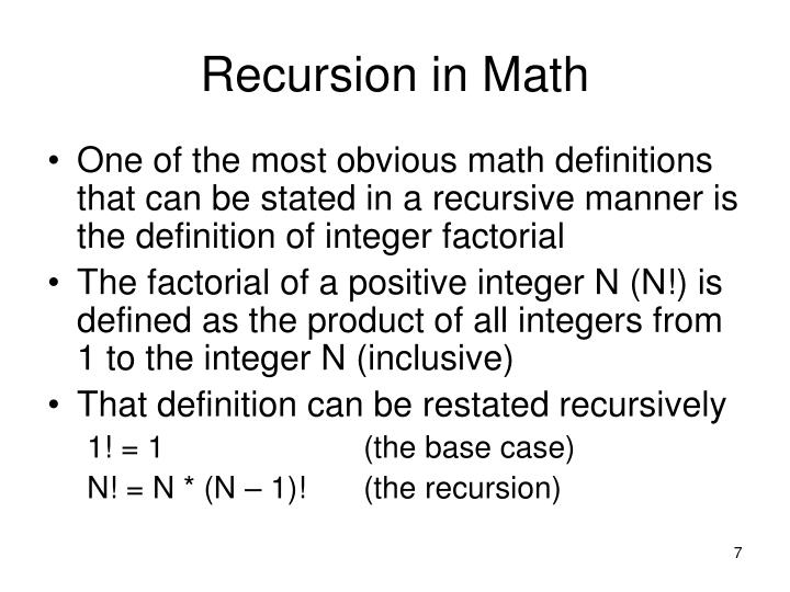 Recursion in Math