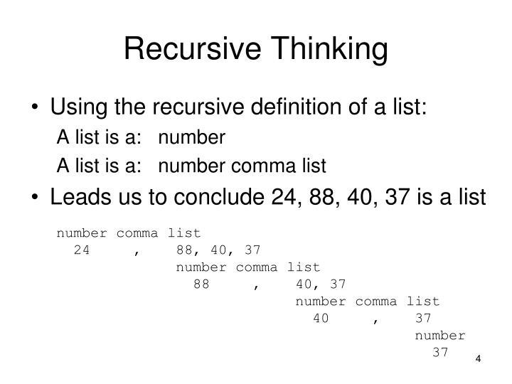 Recursive Thinking