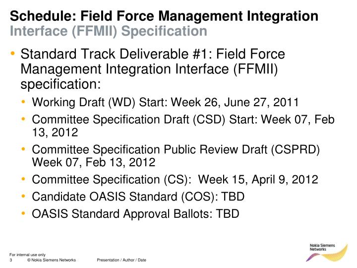 Schedule: Field