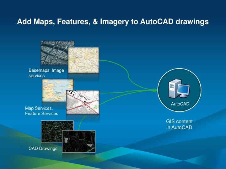Add Maps, Features, & Imagery to AutoCAD drawings