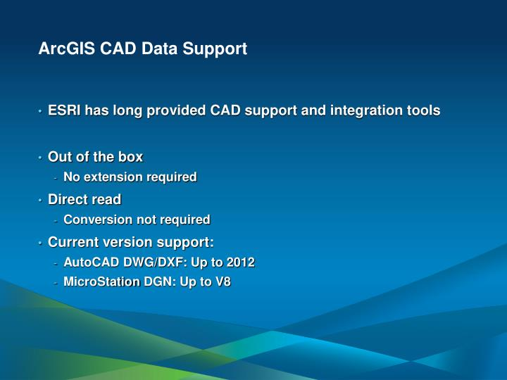 ArcGIS CAD Data Support