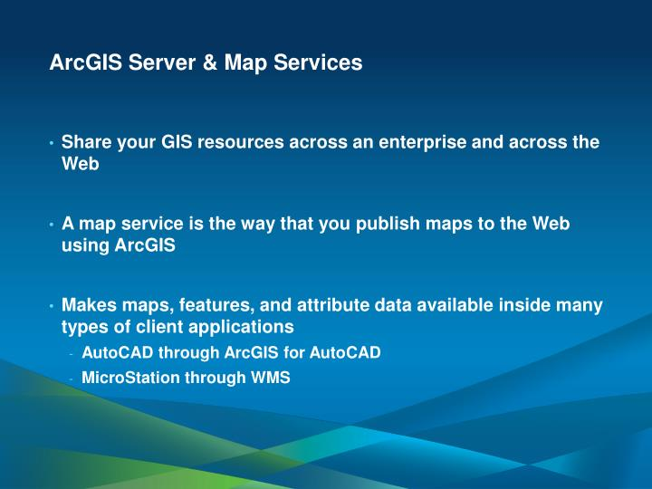 ArcGIS Server & Map Services
