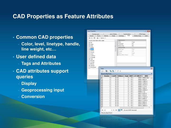CAD Properties as Feature Attributes