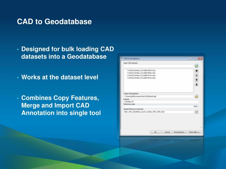 CAD to Geodatabase