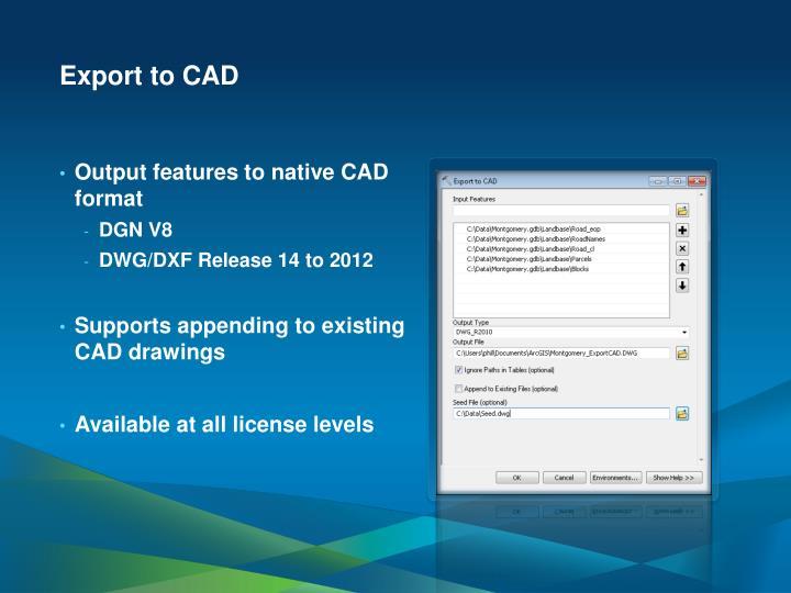 Export to CAD