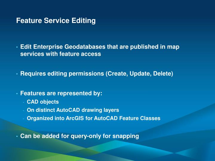 Feature Service Editing