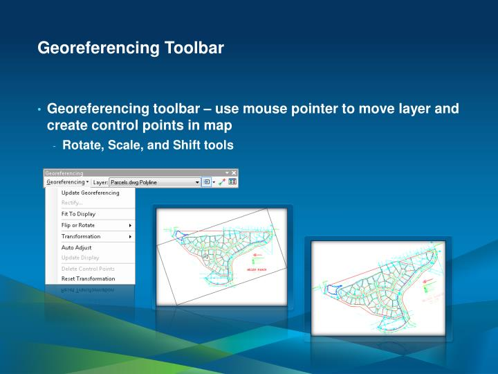 Georeferencing Toolbar