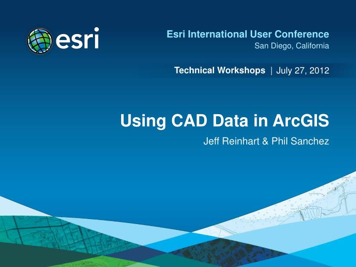 Using cad data in arcgis