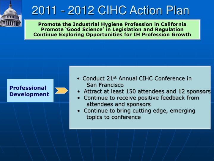 2011 - 2012 CIHC Action Plan