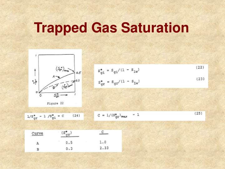 Trapped Gas Saturation
