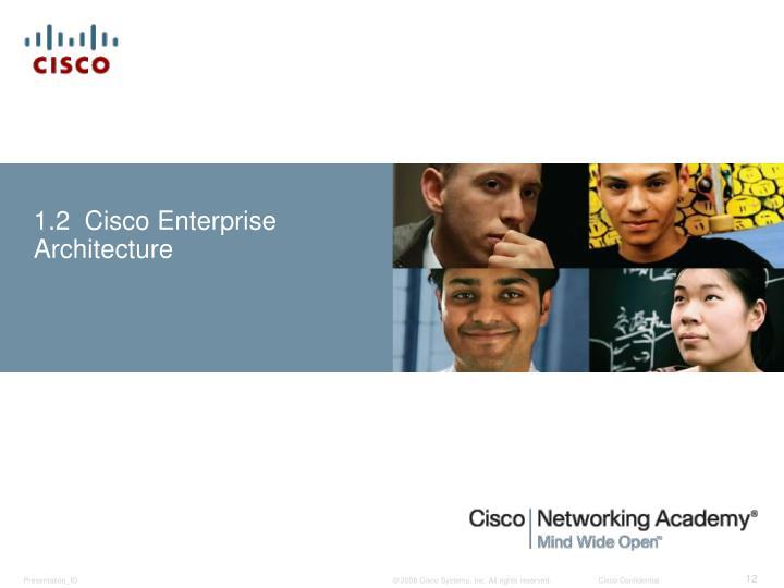 1.2  Cisco Enterprise Architecture