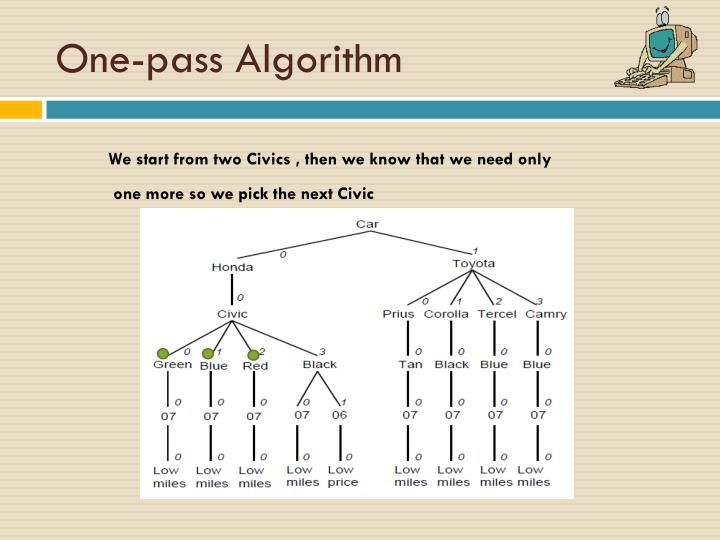 One-pass Algorithm