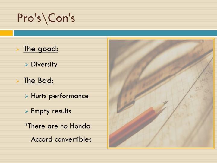 Pro's\Con's