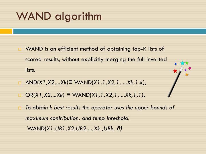WAND algorithm