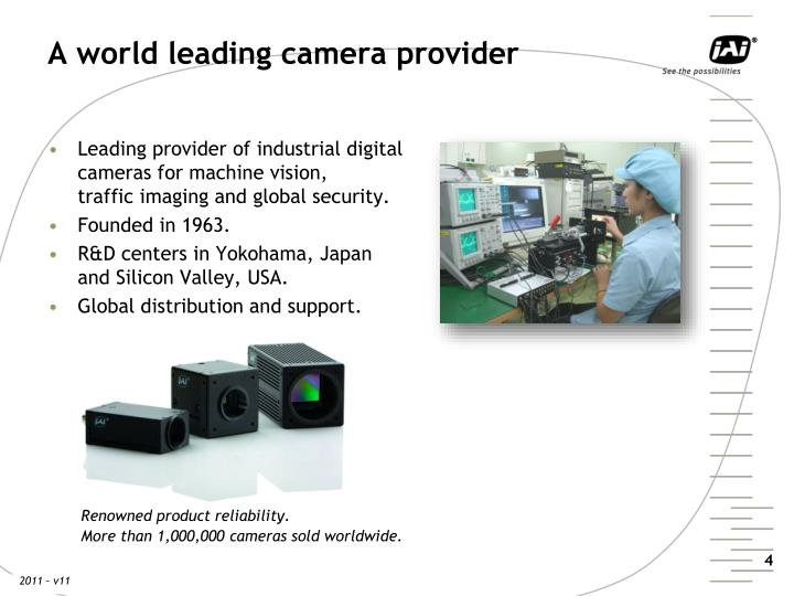 A world leading camera provider