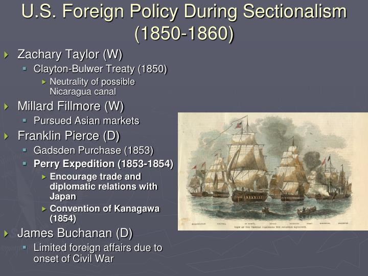 U.S. Foreign Policy During Sectionalism (1850-1860)