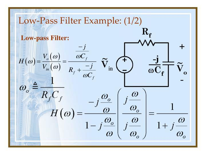 Low pass filter example 1 2