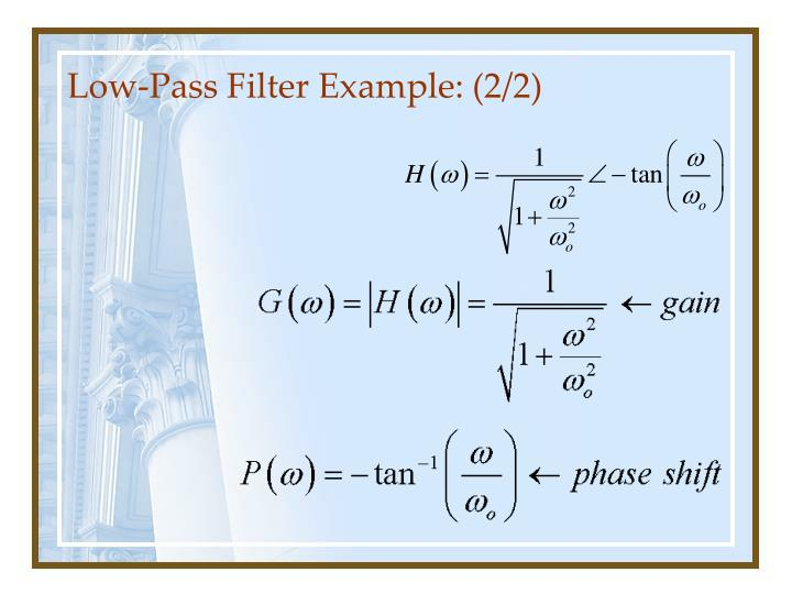 Low pass filter example 2 2