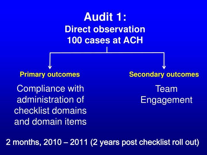 Audit 1: