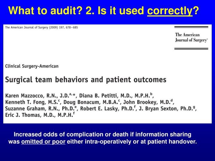 What to audit? 2. Is it used
