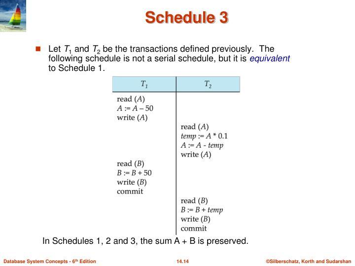 Schedule 3