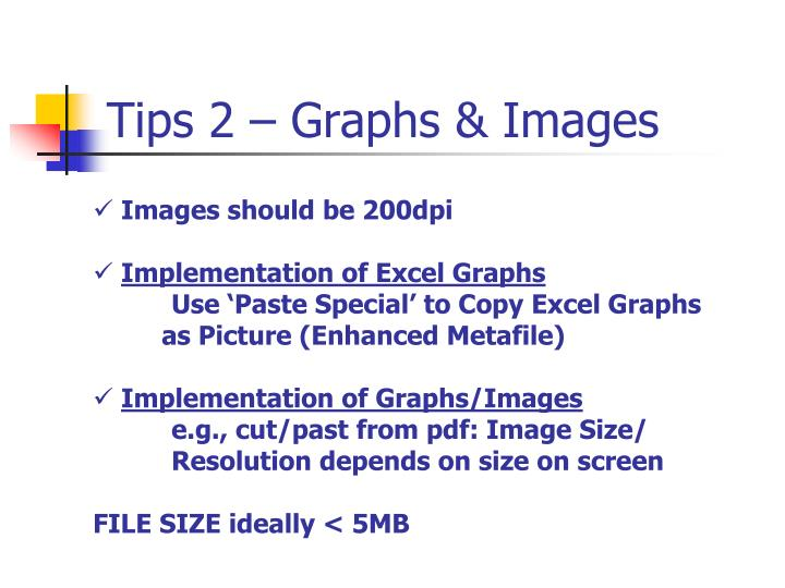 Tips 2 – Graphs & Images