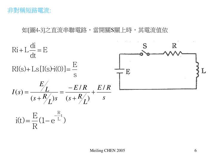 非對稱短路電流