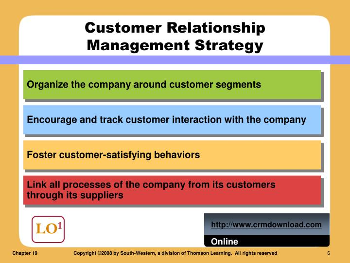 Organize the company around customer segments