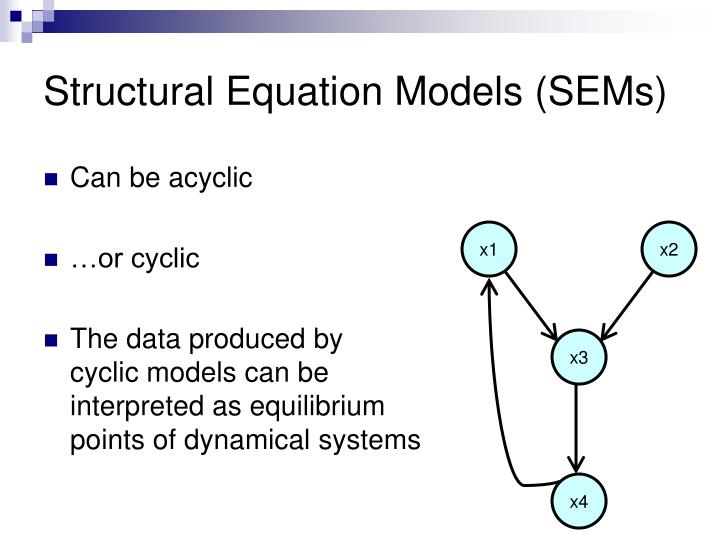 Structural equation models sems1