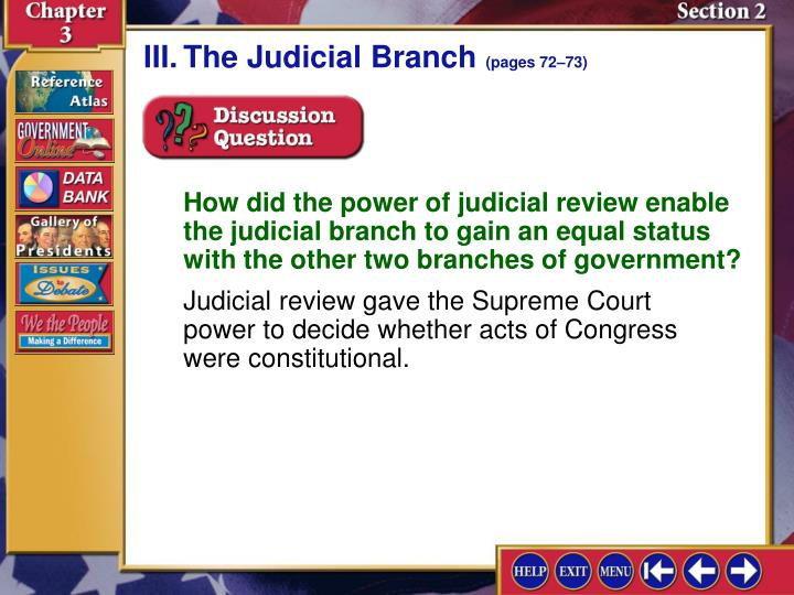 III.The Judicial Branch