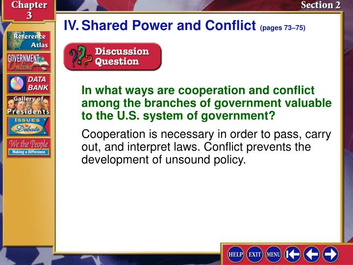 IV.	Shared Power and Conflict