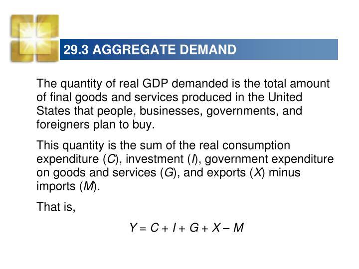 29.3 AGGREGATE DEMAND