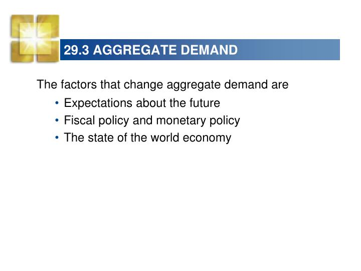 29.3 AGGREGATE DEMAND